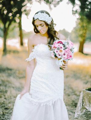 Lacielle Roselle White Headpiece