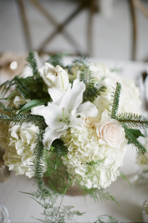 Lily Hydrangea and Rose Arrangement