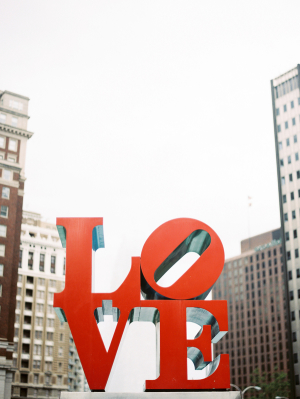 Love Sculpture in Philly Park