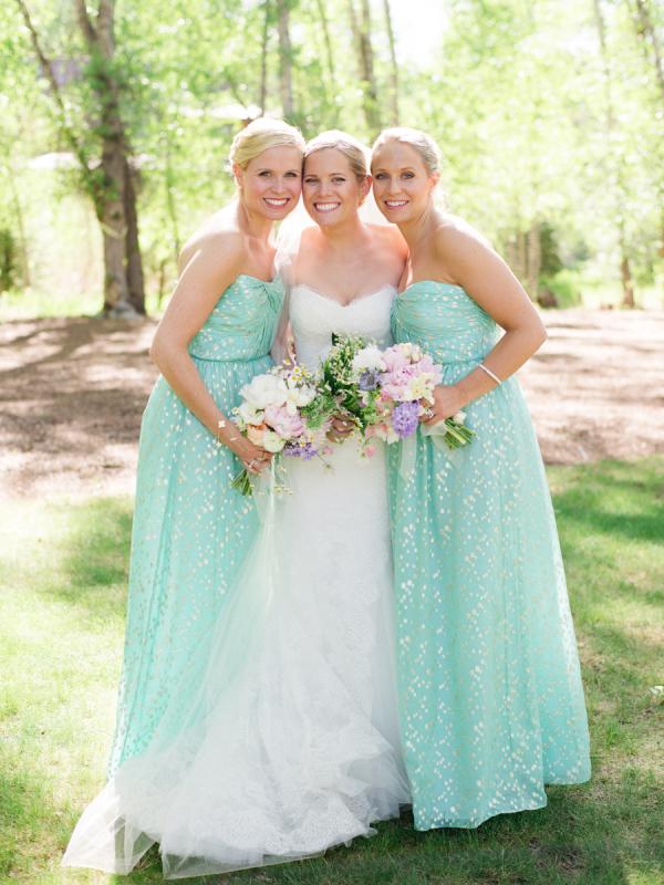 light mint bridesmaid dresses