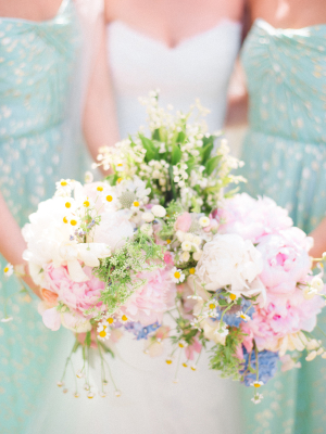 Mint and Gold Bridesmaids Dresses