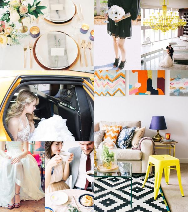 Modern Colorful City Wedding Inspiration
