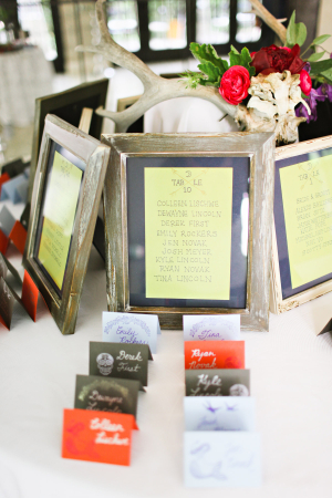 Modern Colorful Escort Cards