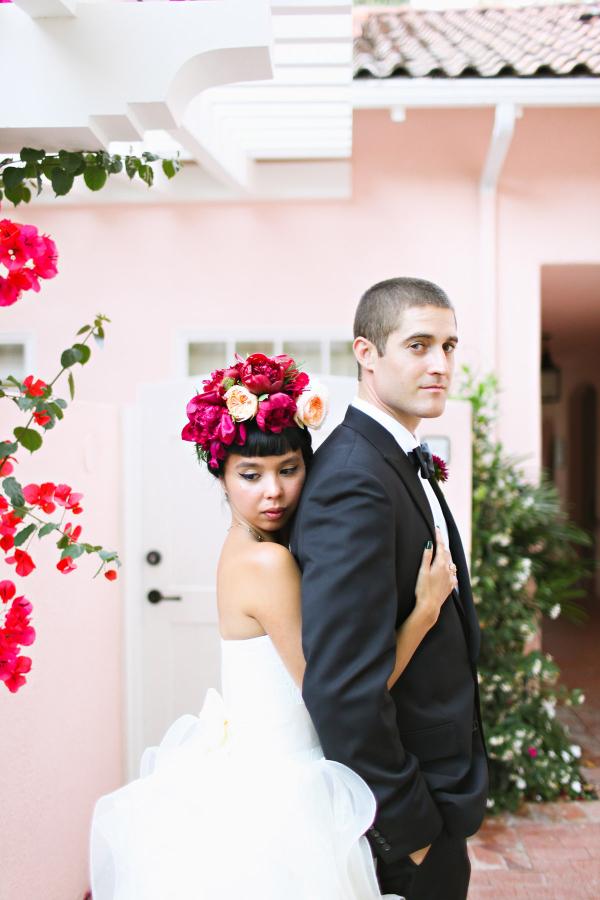 Modern Pink LA Wedding