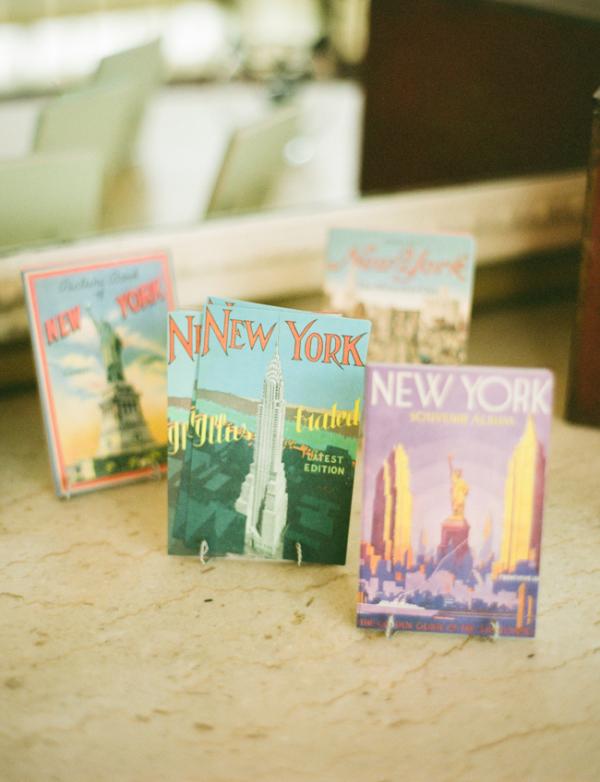 New York Postcard Guest Book