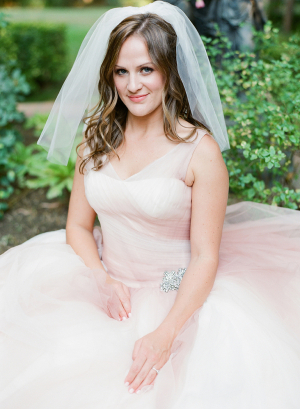 Pale Pink Bridal Gown