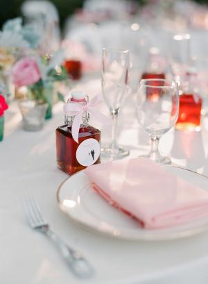Pale Pink Reception Linens