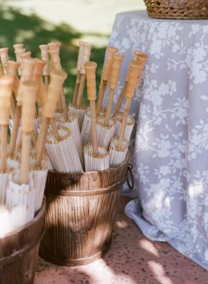 Parasols at Wedding Ceremony