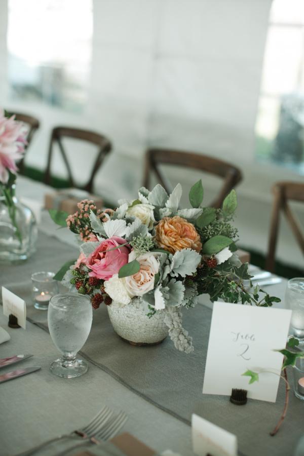 Pastel Florals in Birchwood Vase
