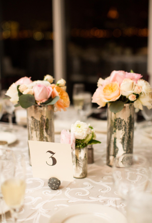 Pastel Flowers in Mercury Glass1