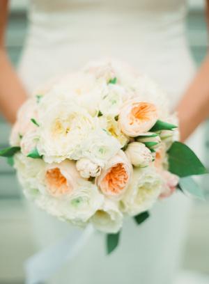 Peach and Cream Peony Bouquet