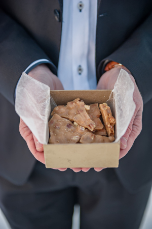 Peanut Brittle in Brown Box