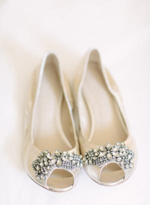 Peep Toe Bridal Flats