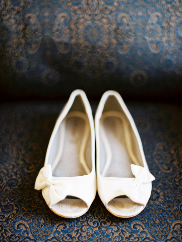 Peep Toe Flats With Bows