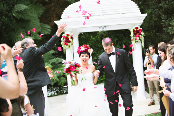 Petal Toss Wedding Ceremony