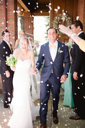 Petal Toss Wedding Exit