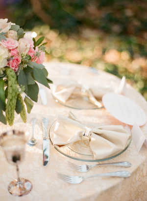 Pink Green and Cream Table Ideas