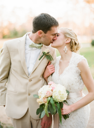Pink Green and Taupe Bridal Looks
