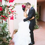 Pink Modern LA Wedding