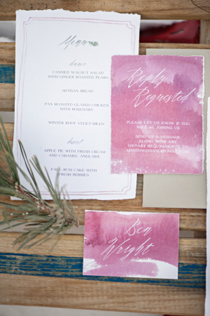 Pink Watercolor Stationery