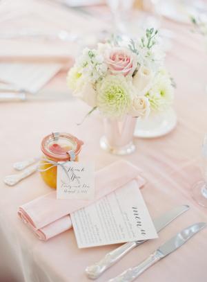 Pink Wedding Linens