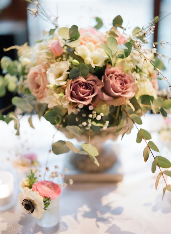 Pink And Green Garden Flower Arrangement