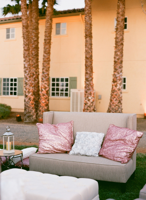 Pink and White Wedding Lounge