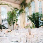 Pink and White Wedding Reception