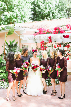 Plum Bridesmaids Dresses