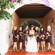 Plum Lace DVF Bridesmaids