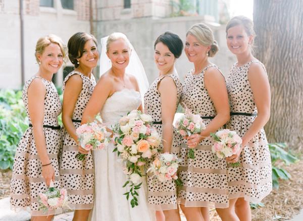 Polka Dot Bridesmaid Dress