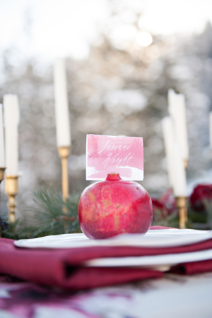 Pomegranate Place Setting
