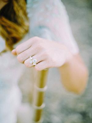 Pretty Vintage Inspired Wedding Ring