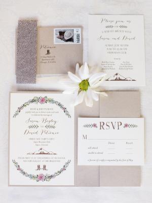 Purple and Gray Wedding Invitations