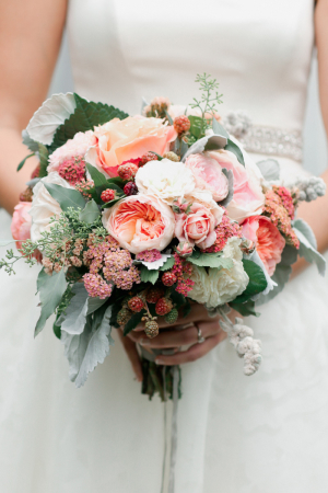 Ranunculus and Berry Bouquet