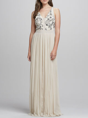 Rebecca Taylor Sequin Embellished Bodice Gown