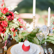Red Pear Place Setting