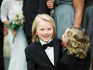 Ring Bearers in Tuxedos