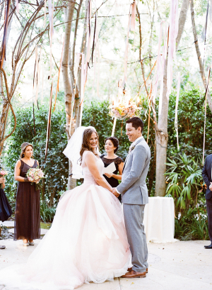 Romantic Ceremony Under Trees