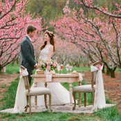Romantic Cherry Orchard Bridal Inspiration