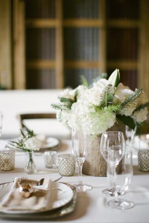 Romantic Neutral Reception Decor