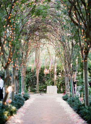 Romantic Tree Arch Wedding