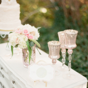 Romantic Wedding Cake Table