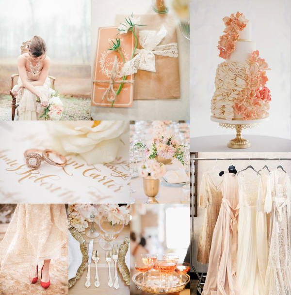 Rose Gold Pale Coral Wedding Colors