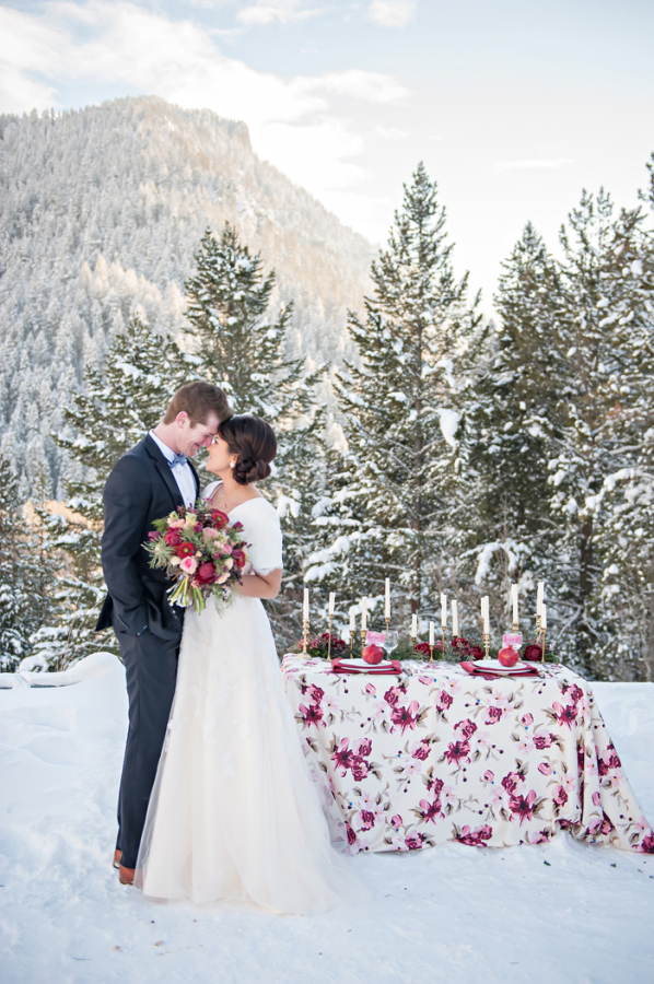 Ruby Emerald and Gold Winter Wedding Inspiration
