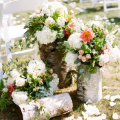 Rustic Birch Wedding Flowers