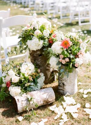 Rustic Birch Wedding Flowers