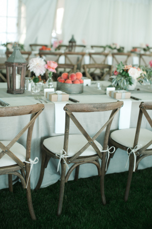 Rustic Elegant Outdoor Reception Decor