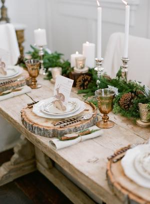 Rustic Elegant Winter Wood Table