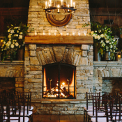Rustic Lodge Wedding Ceremony